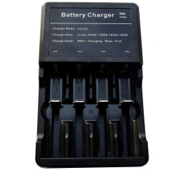 ładowarka na dwa akumulatory cr123