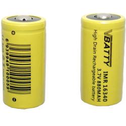 Tipo de bateria CR 123 a 3.7v 880 mAh RCR 16340 litio CR17345 CR123a