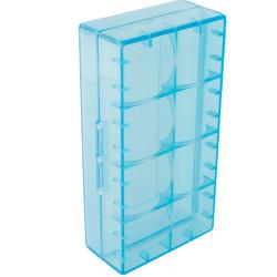 Caja d baterí 123 A transparente 18650 17670 16340 naranja