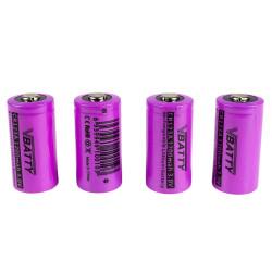 4x Tipo de bateria CR 123 a 3.0V 1200 mAh RCR 16340 litio CR17345