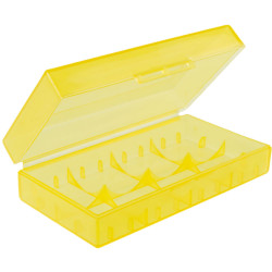 Caja d baterí 123 A transparente 18650 17670 16340 amarillo