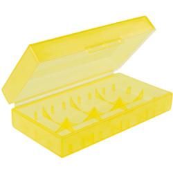 caja d baterí amarillo 18650
