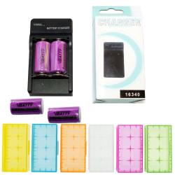 El cargador CR123 + 4x tipo de bateria CR123 3.0v 1200mAh + Caja d baterí 123 A