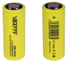 2x Tipo de bateria IMR 26650 3.7 v 4200 mAh 50A CE
