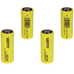 4x Tipo de bateria IMR 26650 3.7 v 4200 mAh 50A CE