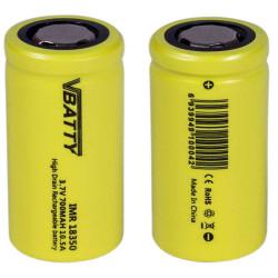 2x tipo de bateria IMR 18350 3,7 v 700 mAh 10.5A CE