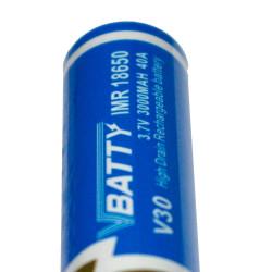 1x tipo de bateria IMR18650 3000 mAh 3.7v litio 40A CE