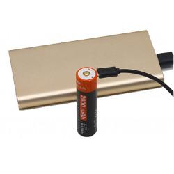 Tipo de bateria 18650 USB 2600 mAh 9.62Wh 3,7v litio
